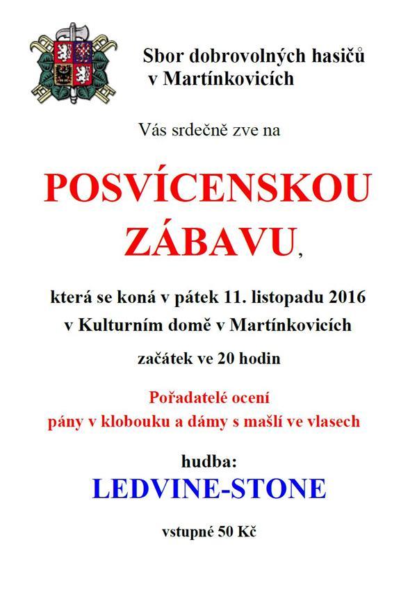POSVÍCENSKÁ ZÁBAVA Martínkovice